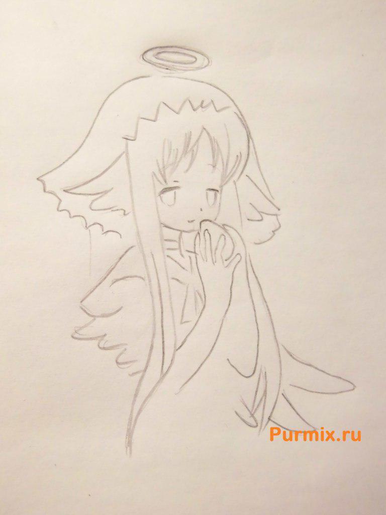 Рисуем ангела с яйцом в руке на пасху