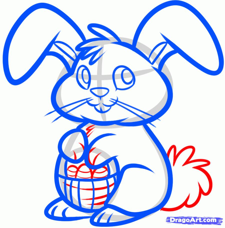 Рисуем пасхального кролика - шаг 7