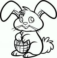 Как нарисовать пасхального кролика карандашом поэтапно