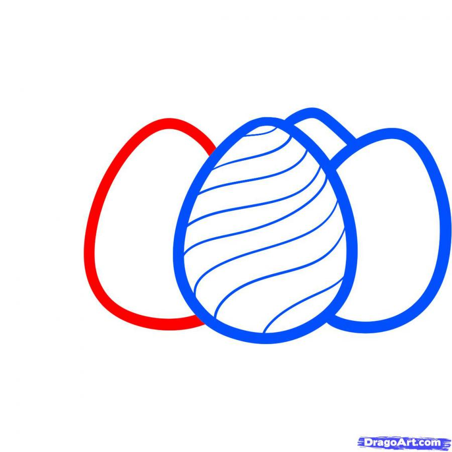 Как просто нарисовать пасхальные яйца  на бумаге - шаг 5