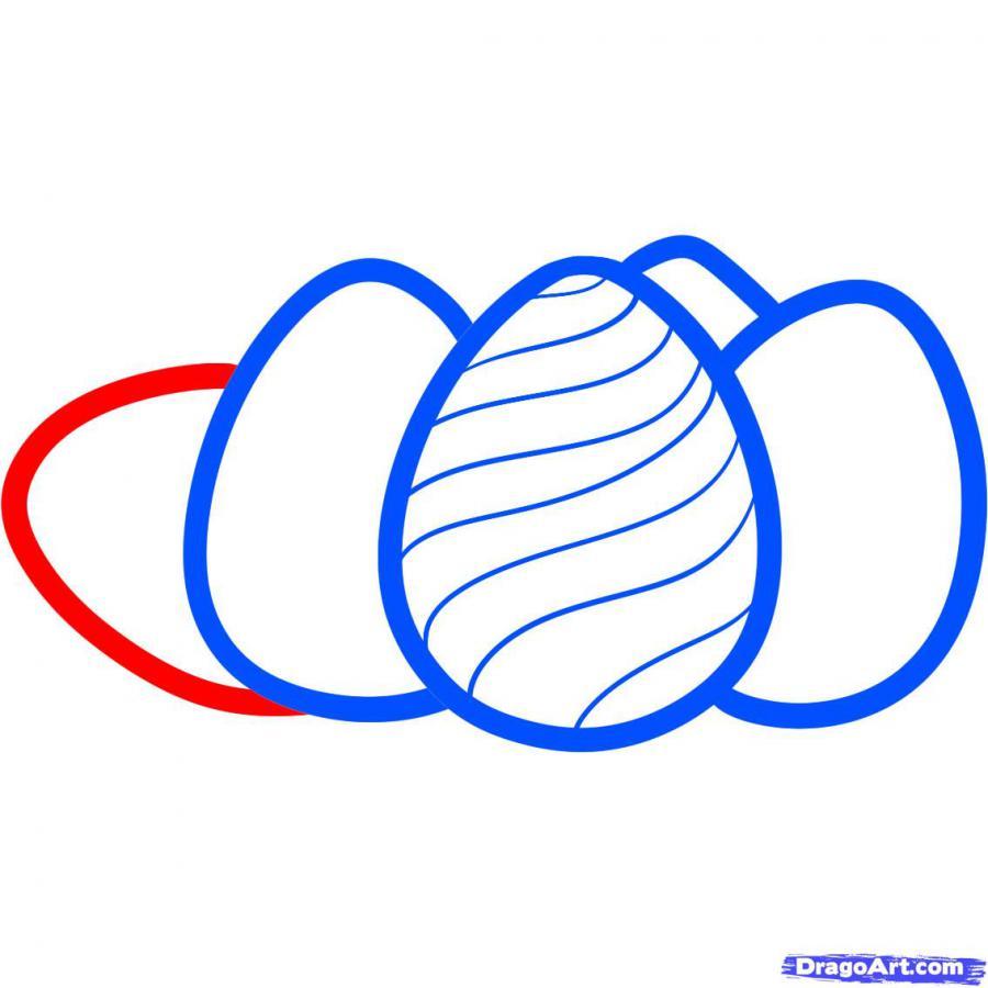 Как просто нарисовать пасхальные яйца  на бумаге - фото 6