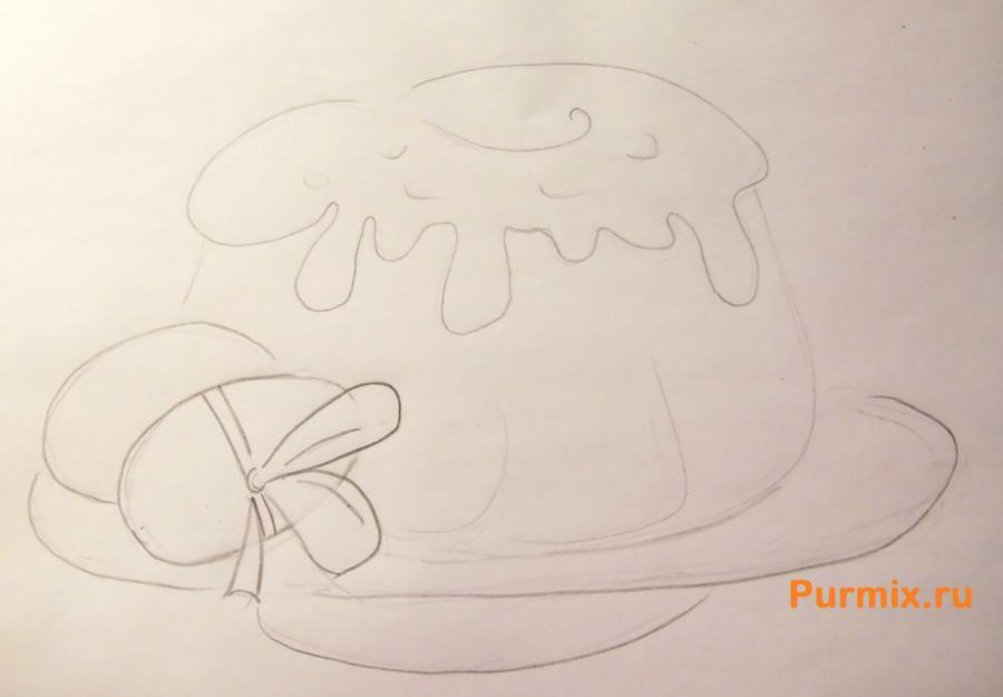 Как легко и просто нарисовать пасху с яйцами - шаг 4
