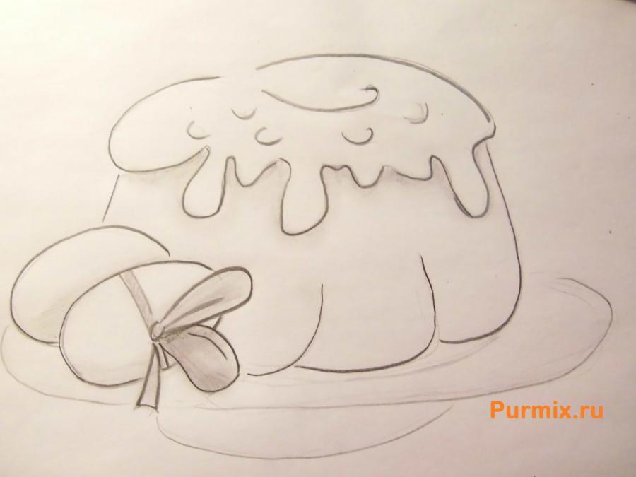 Как легко и просто нарисовать пасху с яйцами - шаг 6