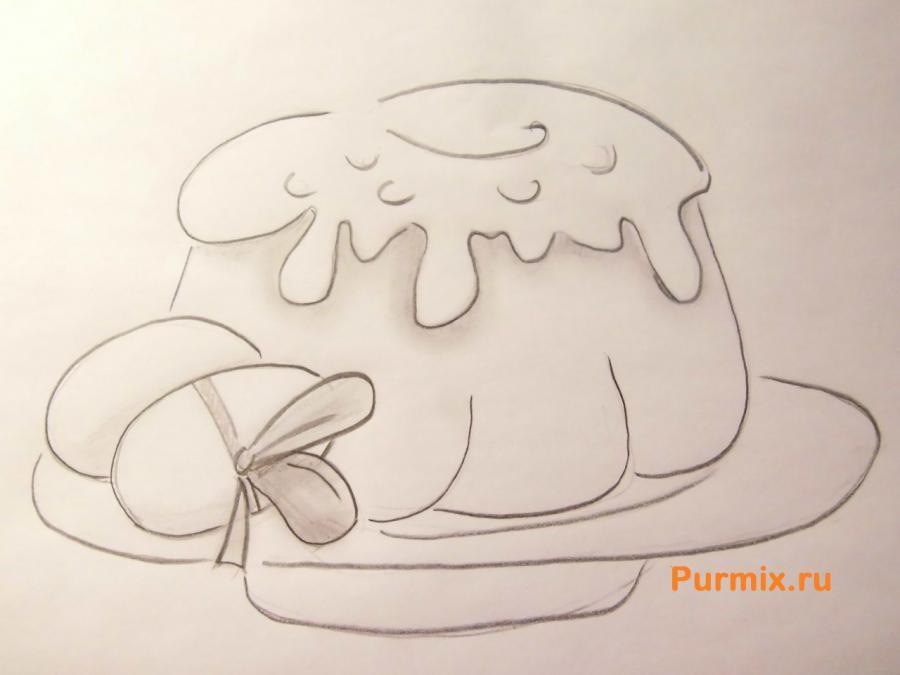 Как просто нарисовать пасху с яйцами карандашом поэтапно