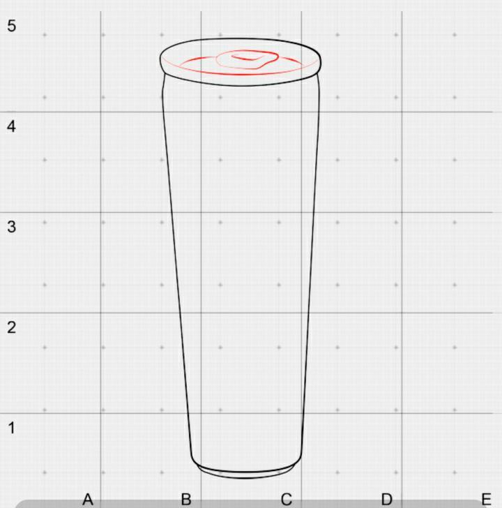 Рисуем банку Red Bull в 3D на бумаге