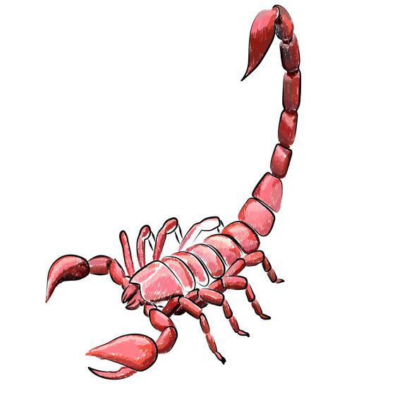 Рисуем красного скорпиона в 3Д шаг за шагом