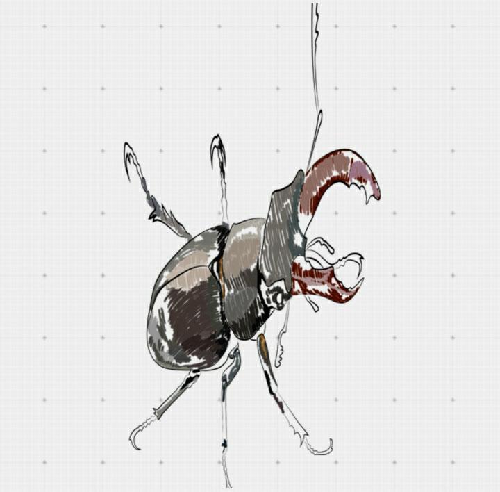 Рисуем жука-оленя в 3D