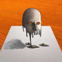 Рисунок тающую 3д маску