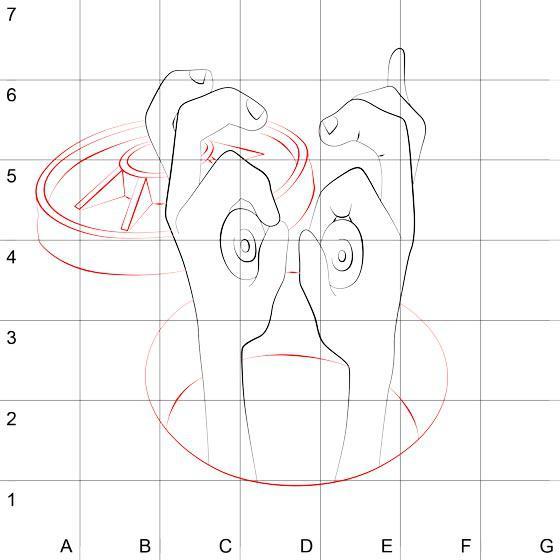 Как шаг за шагом нарисовать 3D рисунок глаза в руках