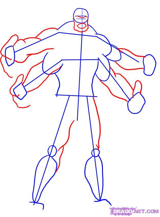 Как рисовать героев из мортал комбата поэтапно