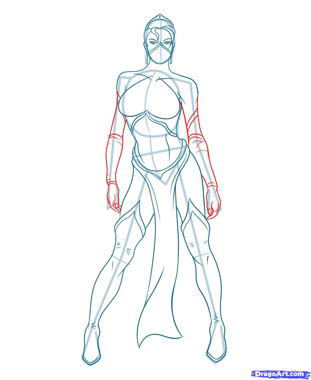 Как нарисовать Китану из