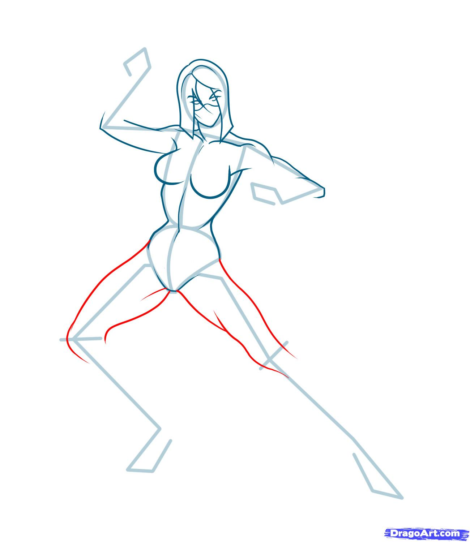 Рисуем Милену (Mileena) из Mortal Kombat
