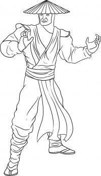 Как нарисовать Рейдена из Мортал Комбат карандашом поэтапно