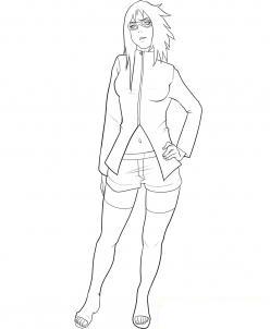 Как рисовать Карин из Наруто карагдашом