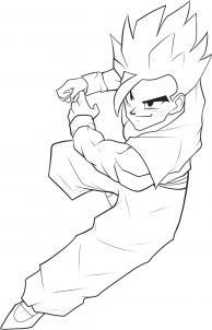 Как рисовать Сын Гохан