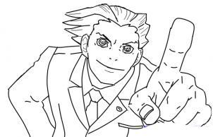 Как рисовать Phoenix Wright