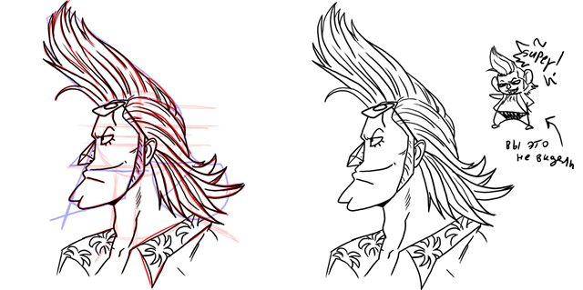 Рисование мужского лица в стиле аниме OnePiece1 *