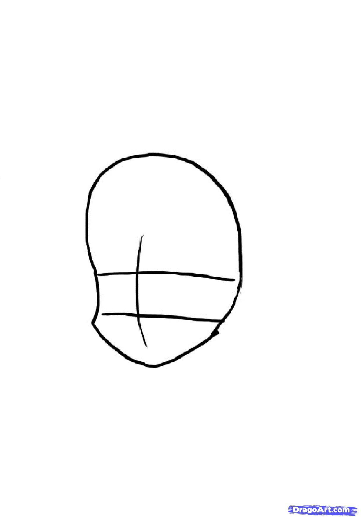 Рисуем красивую аниме девочку - шаг 1