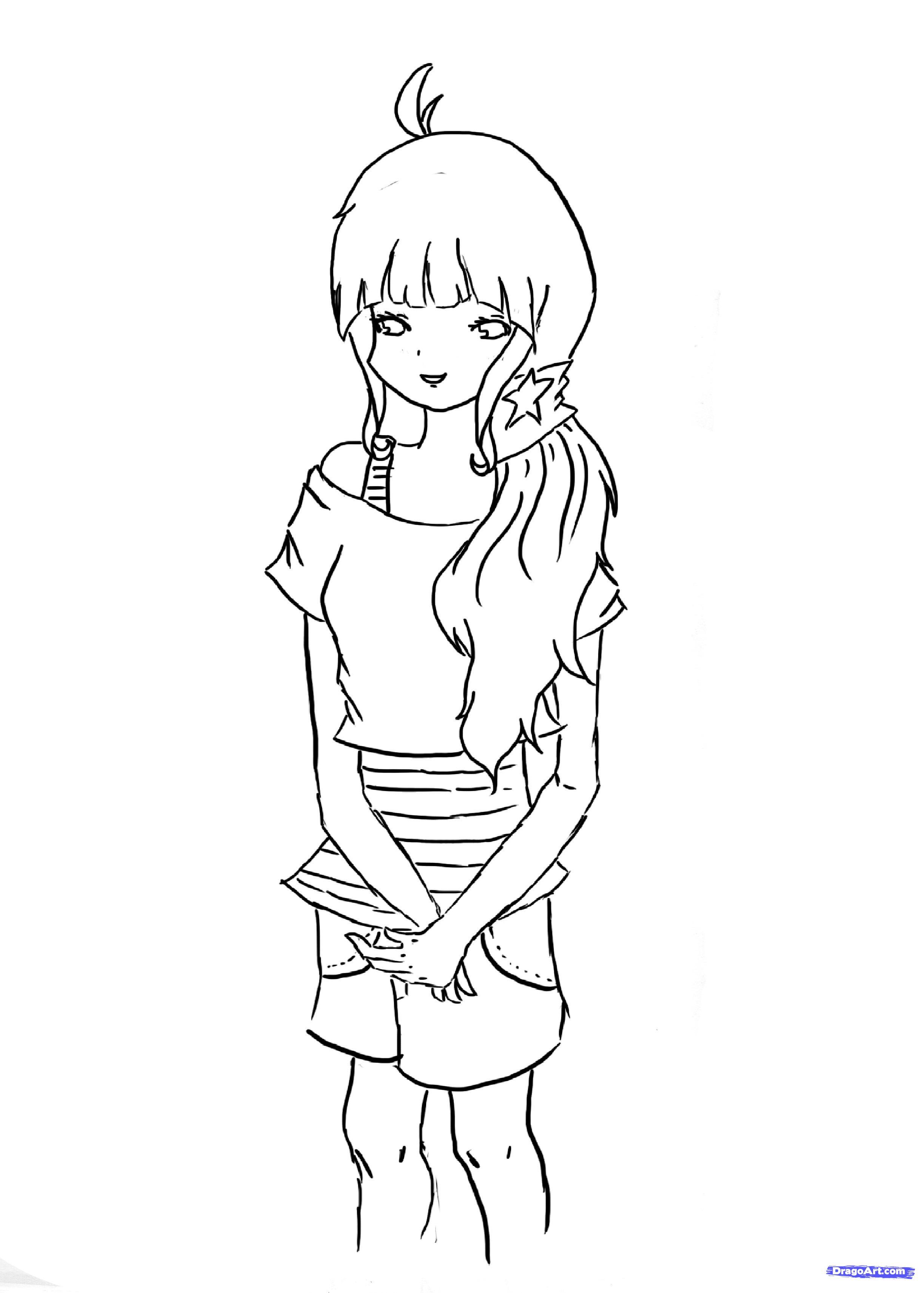 рисуем аниме для начинающих поэтапно:
