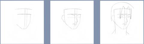 Рисуем Итачи Учиха из Наруто - шаг 1