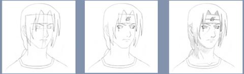 Рисуем Итачи Учиха из Наруто - шаг 2