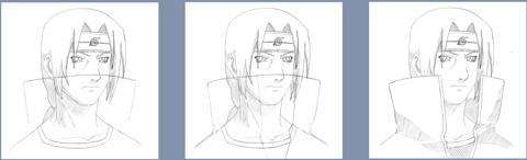 Рисуем Итачи Учиха из Наруто - шаг 3
