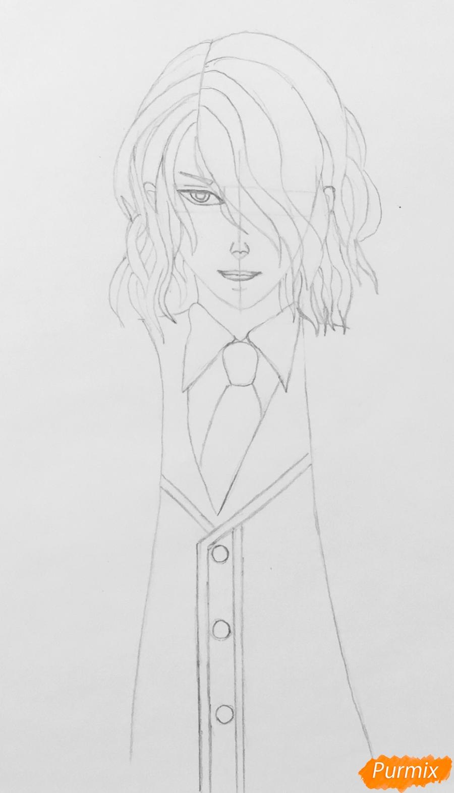 Рисуем Аида из аниме Забавы Богов - фото 4