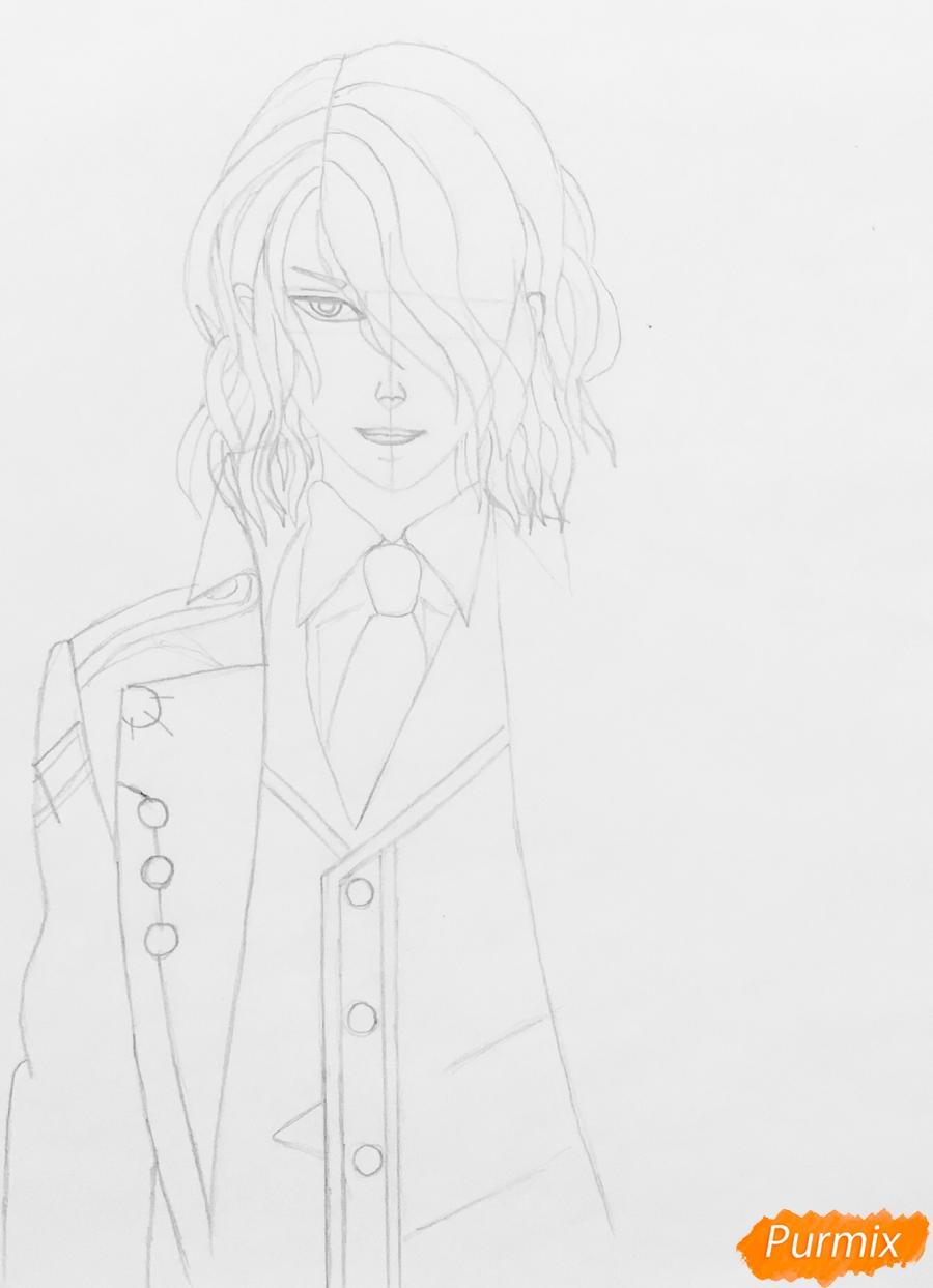 Рисуем Аида из аниме Забавы Богов - фото 5