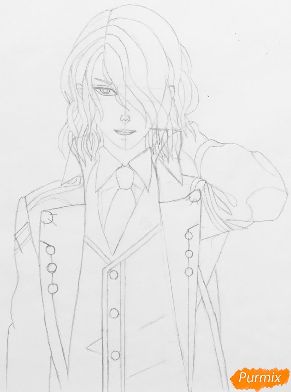 Рисуем Аида из аниме Забавы Богов - фото 6
