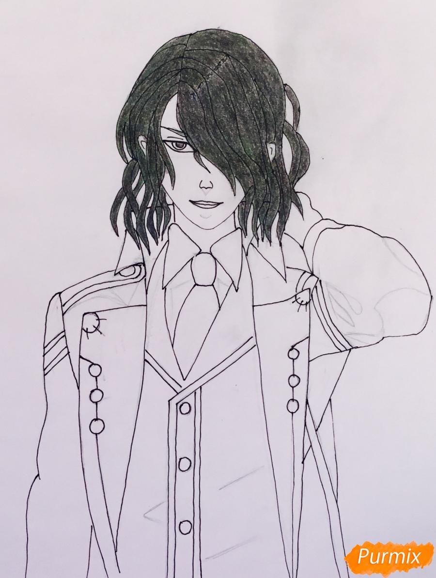 Рисуем Аида из аниме Забавы Богов - фото 8