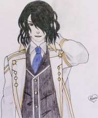 Аида из аниме Забавы Богов карандашом
