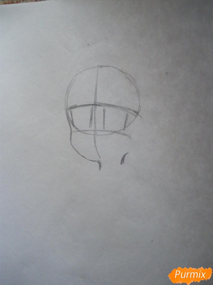 Рисуем Акко из аниме Академия ведьмочек - шаг 1