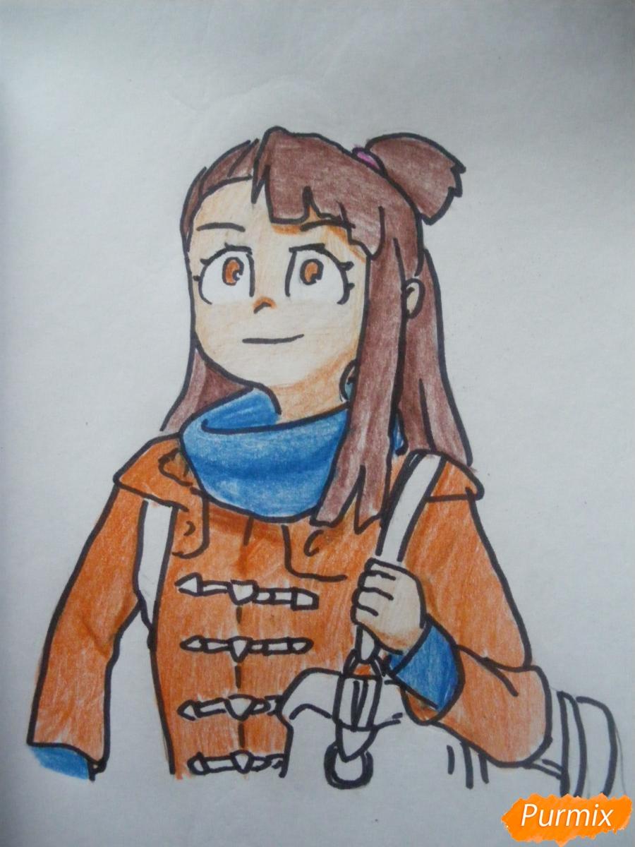 Рисуем Акко из аниме Академия ведьмочек - шаг 10