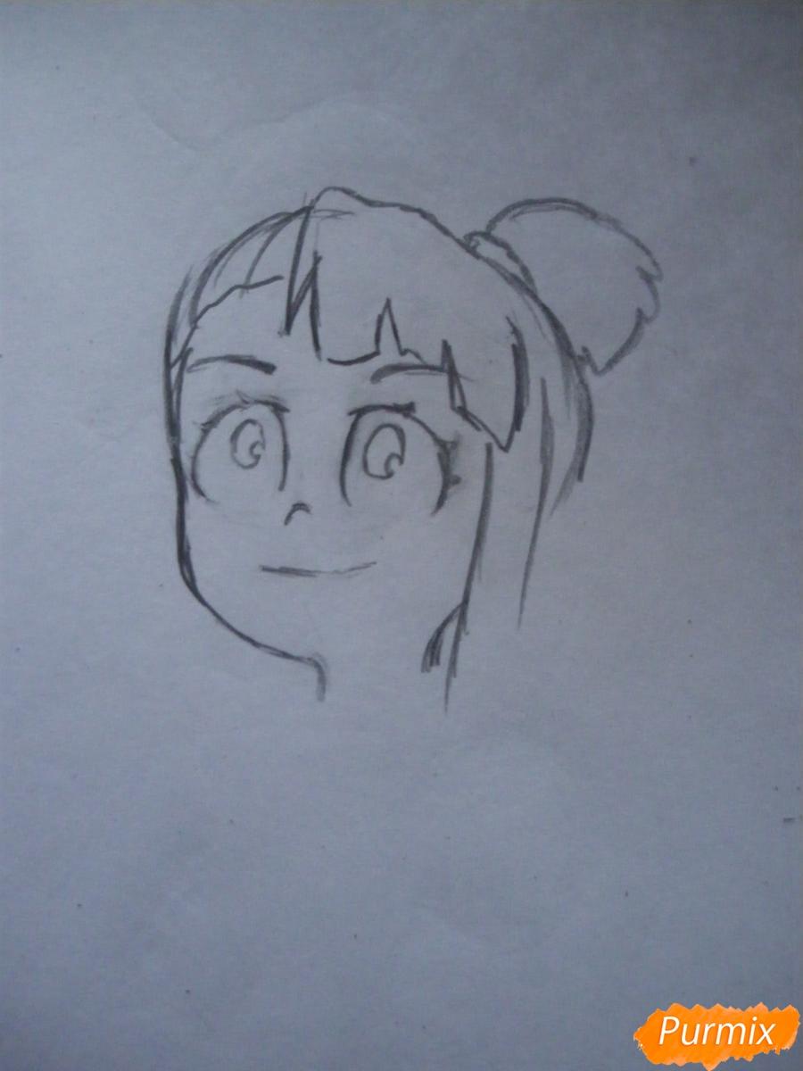 Рисуем Акко из аниме Академия ведьмочек - шаг 3