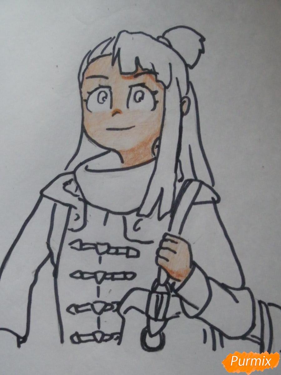 Рисуем Акко из аниме Академия ведьмочек - фото 8