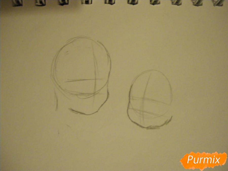 Рисуем Аме и Юки в детстве из аниме Волчьи дети Амэ и Юки - шаг 1