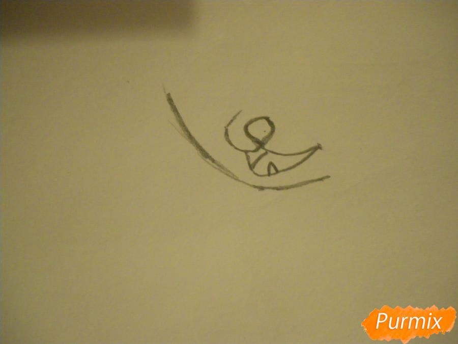 Рисуем аниме цветочную кошечку - шаг 1