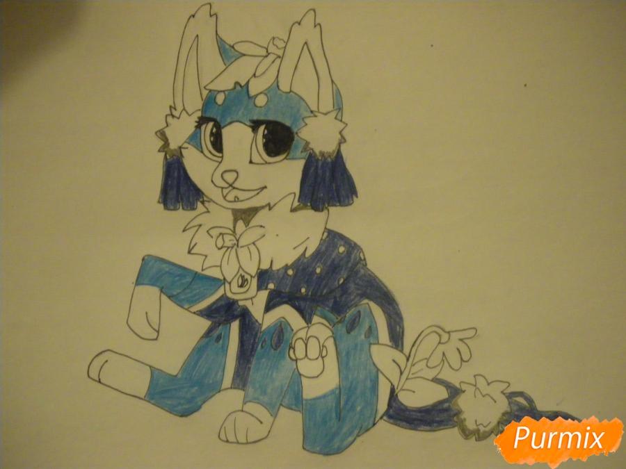 Рисуем аниме цветочную кошечку - шаг 9