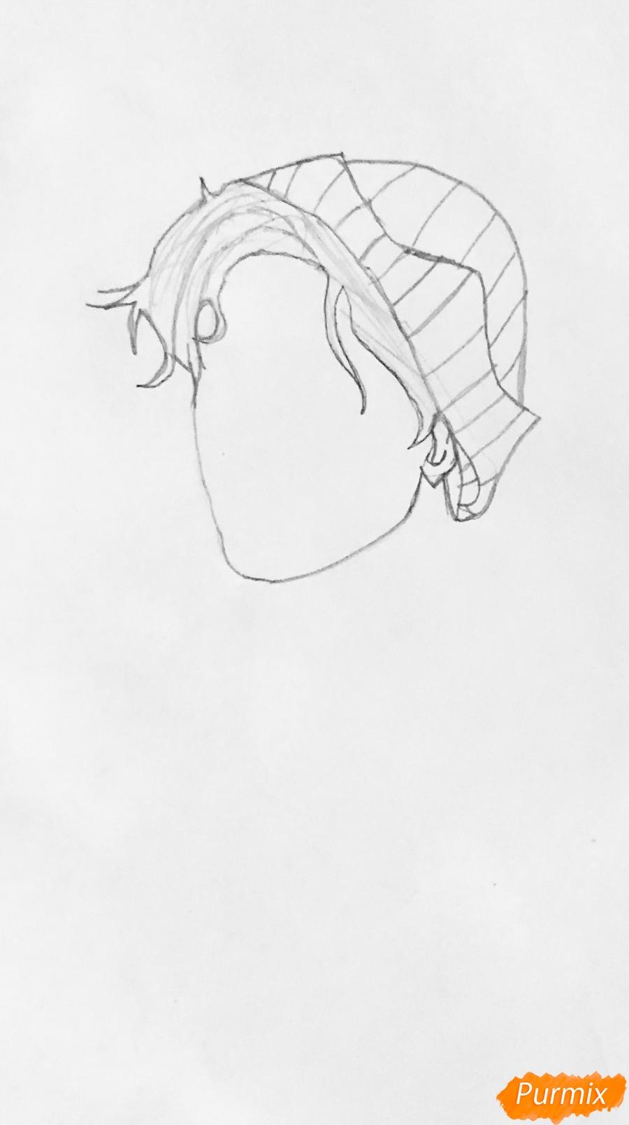 Рисуем Джагхеда в стиле аниме из сериала Ривердейл - фото 2