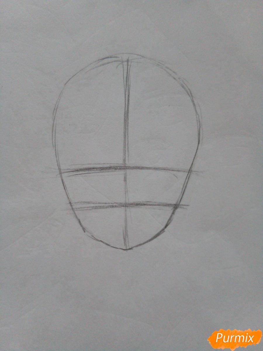 Рисуем красную шапочку в стиле аниме - шаг 1