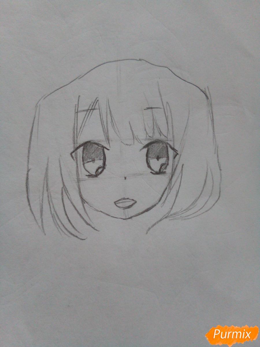 Рисуем красную шапочку в стиле аниме - шаг 3