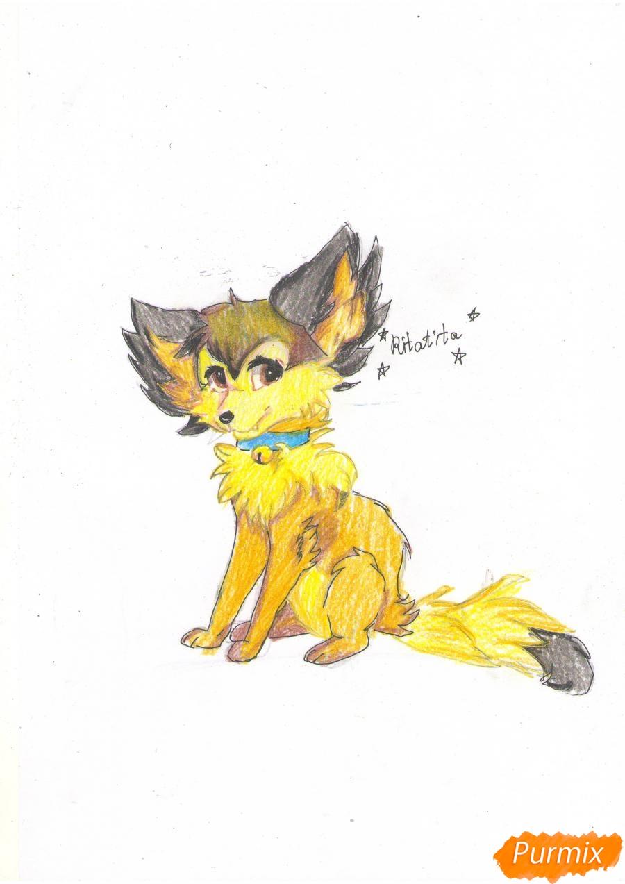 Рисуем аниме лиса - фото 10