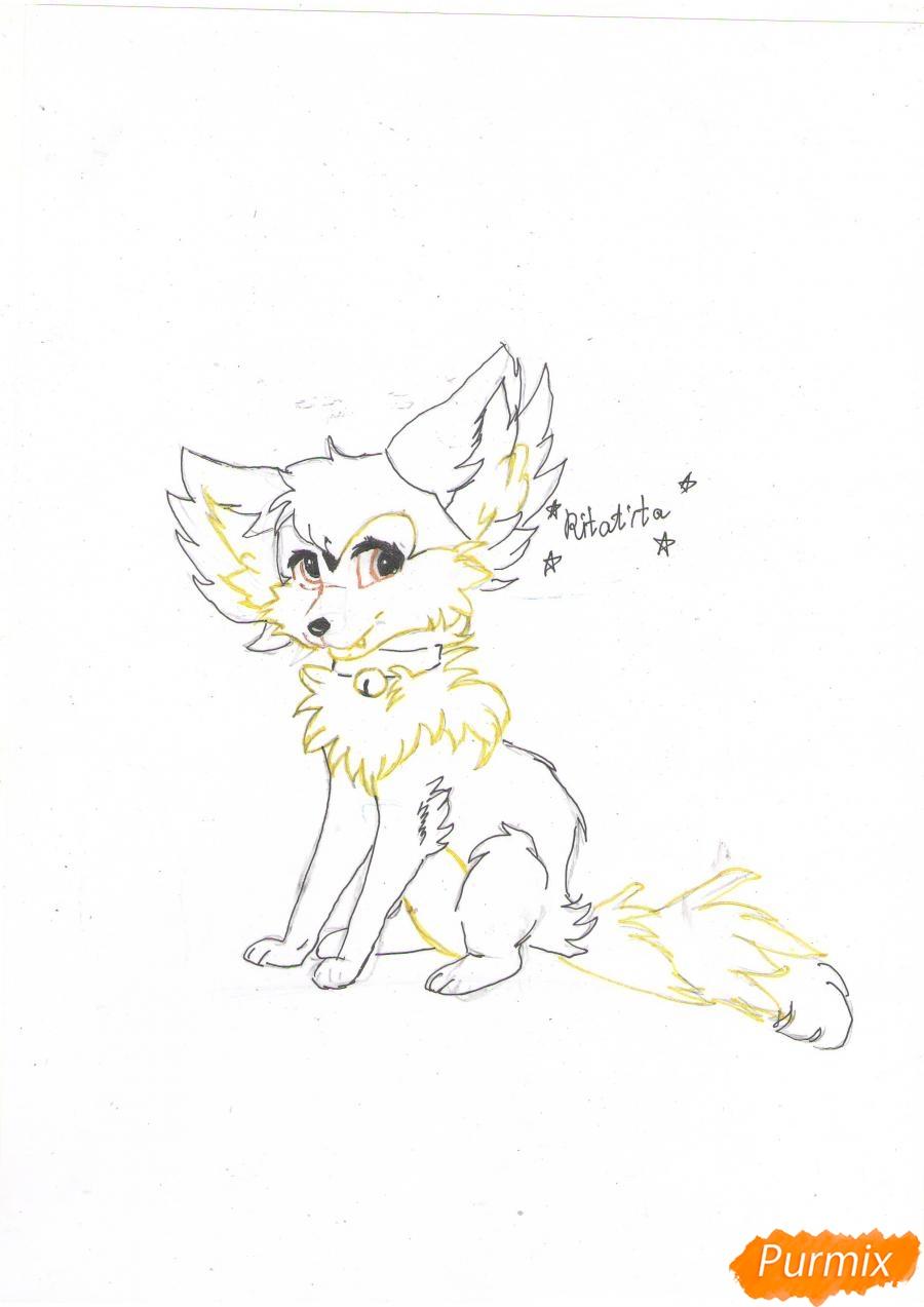 Рисуем аниме лиса - фото 7
