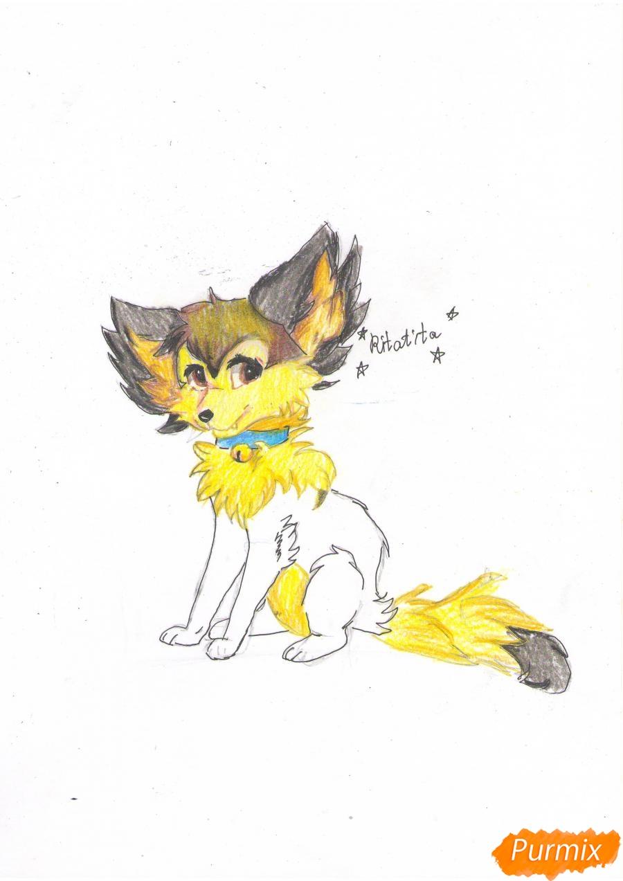 Рисуем аниме лиса - фото 9