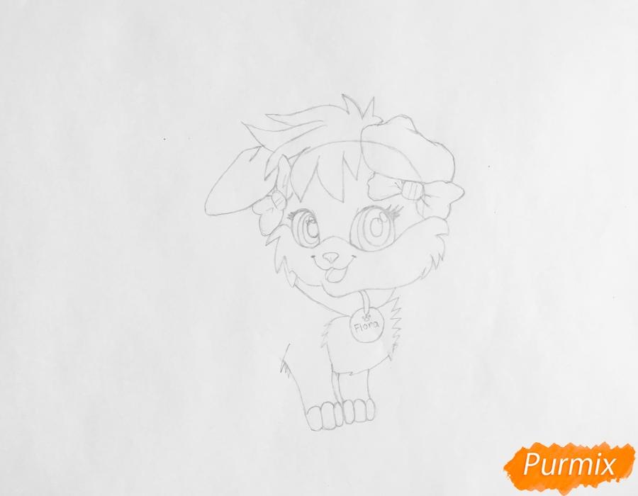 Рисуем аниме собачку Flora - шаг 4