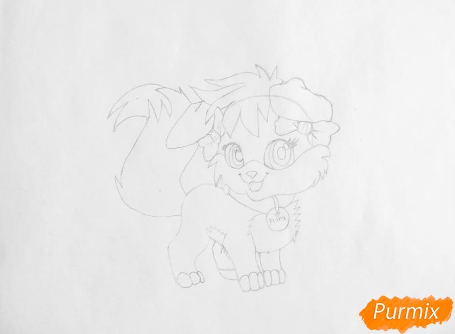Рисуем аниме собачку Flora - шаг 5