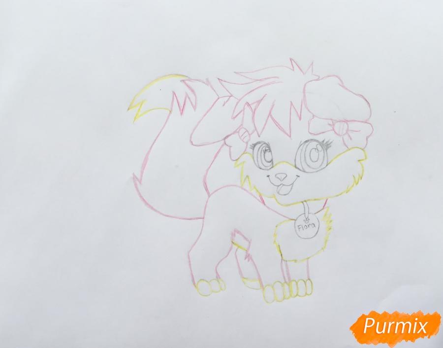Рисуем аниме собачку Flora - шаг 6
