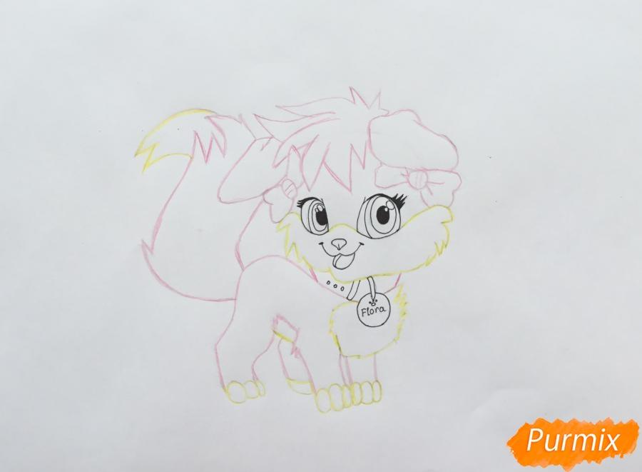 Рисуем аниме собачку Flora - шаг 7