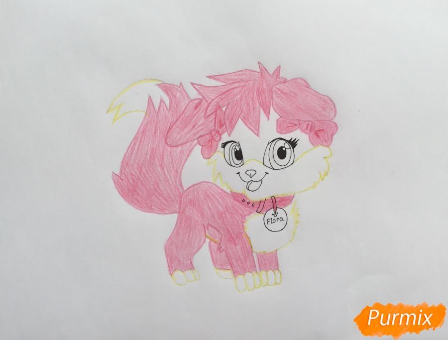 Рисуем аниме собачку Flora - шаг 8