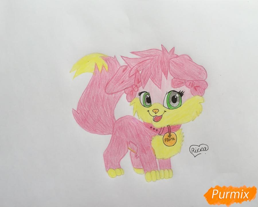 Рисуем аниме собачку Flora - шаг 9
